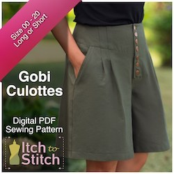 Itch to Stitch Gobi culottes