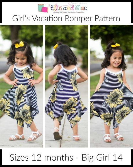 EAM vacation romper girl