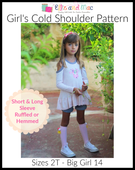EAM cold shoulder top kid