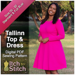 Itch to Stitch Tallinn top and dress