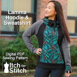Itch to Stitch Lamma hoodie ad